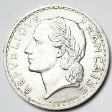 5 FRANCS LAVRILLIER NICKEL 1938