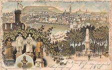 Gruß aus Annaberg Erzg. Denkmäler Litho Postkarte 1901
