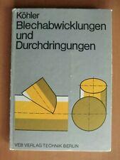 DDR Lehrbuch Blech-Abwicklungen Durchdringungen Hosenrohr Zylinder Kegel Kugel