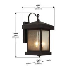 Bel Air Lighting Santa Cruz 2-Light Weathered Bronze Outdoor Wall Mount Lantern