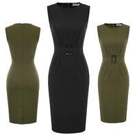 Bodycon Pencil Office Sheath Dress Dresses Women's Elegant Formal Business