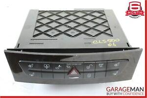 03-09 Mercedes W211 E550 CLS500 Hazard Light Door Lock Control Switch Dark Wood