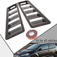 Pair/2pcs Universal Car Bonnet Hood Vent Louver Cooling Panel Trim Black Plastic