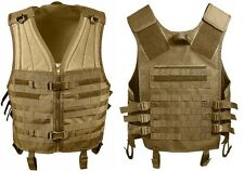 Coyote Brown M.O.L.L.E Military Tactical MOLLE Modular Assault Vest 5404
