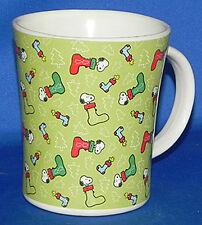 Snoopy & Woodstock Christmas Stockings Ceramic X-mas Mug Style 2