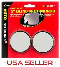 """2pc Universal 2"""" Wide Angle Convex Rear Side View Blind Spot Mirror for Car Auto"""