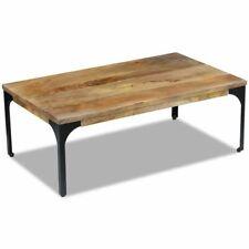 #vidaXL Mango Wood Side Coffee Table Steel Frame Living Room Furniture Industria