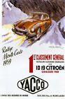 Rally Monte Carlo 1959 Car Race Grand Prix Sport Automobile Poster Repro FREE SH