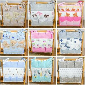 Nursery Hanging Storage Baby Cot Tidy/ Organiser for Crib / Cot/ Cotbed/ Cot Bed