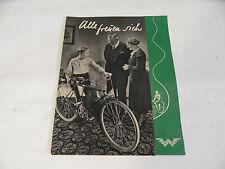 altes Prospekt Wanderer Fahrrad