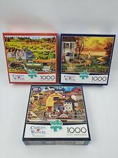 Buffalo Games Charles Wysocki 1000 PC Puzzle lot of 3 Bostonian, Supper Foxy