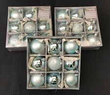 JOB LOT CLEARANCE SALE Pale Ice Blue Christmas Tree Bauble Decorations x 27