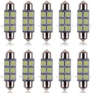 10x C5W Festoon LED Interior Light Number Plate Bulb 6000K95% Canbus 31 36 39 41