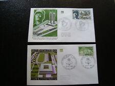 FRANCE - 2 enveloppes 1er jour 1969 (arts manufactures-leclerc) (cy17) french