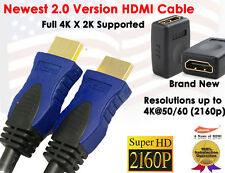 Super Resolution 2.0 Version 4K X 2K 3FT HDMI + Gold HDMI F/F Extension Adapter