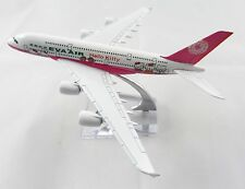 16cm Airplane Plane Model Pink Hello Kitty EVA Air A380 Airlines Aircraft Metal