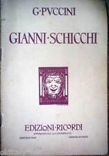 1933 libretto teatro-Giovacchino Forzano-GIANNI SCHICCHI-Giacomo Puccini-Ricordi