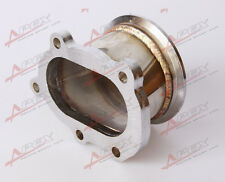 "GT25R GT28R 5 BOLT TO 3"" INCH V-BAND VBAND CLAMP FLANGE DOWNPIPE ADAPTER"