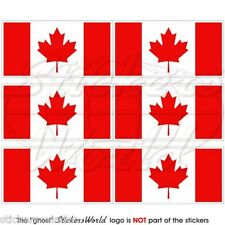 CANADA Canadian Flag MAPLE Commonwealth 40mm Mobile Phone Stickers-Decals x6
