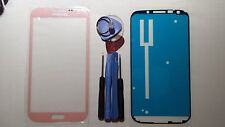 Pink Samsung Galaxy Note 2 Genuine Glass Front Screen Lens Tools + Adhesive