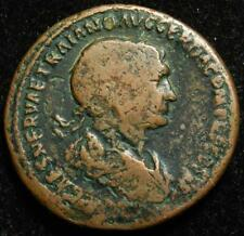 Trajan AE as, SPQR OPTIMO PRINCIPI S C, Victory & trophy, Rome 107AD - RIC 524
