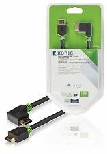 Konig High Speed HDMI Cable with Ethernet HDMI to HDMI Connector right-angled 3m