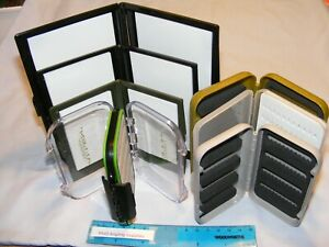 Assorted Plastic Fly Boxes for Fly Fishing choose box from drop down menu