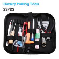 23Pcs DIY Jewelry Making Tools Repair Kit Jewelry Pliers Beading Wire Set  W