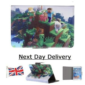 "Minecraft Tablet Case - kids Love Minecraft Cover 7"" 8 "" 9.7 "" 10 "" inch Size ~"