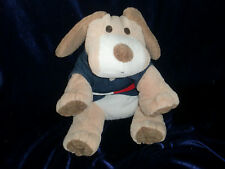 TOMMY HILFIGER STUFFED PLUSH PUPPY DOG TAN BROWN WHITE BEAGLE NAVY BLUE POLO