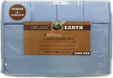 Organic Earth 1800 Count Bamboo with Aloe Vera 6 pc Sheet Set King & Queen Soft
