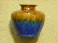 Regal Mashman vase in brown/green and blue #1