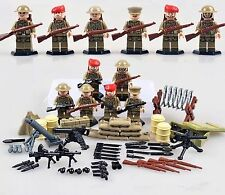 WWII British Toy Soldiers - Compatible with Lego - Army Military Gun War - WW2