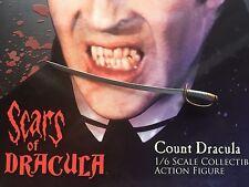 Estrella del Conde Drácula Ace las cicatrices espada larga Suelto Escala 1/6th