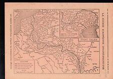WWI Map Carte Est France Belgique Alsace-Lorraine Front Italy 1918 ILLUSTRATION