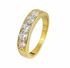 Eternity Yellow Gold Filled Costume Rings