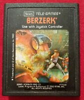 BERZERK (Atari 2600; Tele-Games, 1982) Cartridge Only. Tested recently and works
