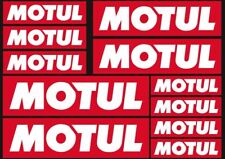 Motul Oil Decals Stickers Graphic Set Motorcycle Vinyl Adhesive 11 Pcs Red