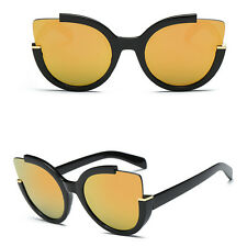 Retro Oversized Cat Eye Sunglasses Frame Flat Mirrored Lens Shades Women Fashion