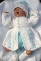 "Baby Bobbles/Lil Princess * 2 PAPER KNITTING PATTERNS * 20"" Reborn/Newborn Baby"