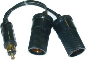 Adapterkabel DIN Normstecker auf 2x Zigarettenanzünder 21mm, 2x 4A,12/24V, D78