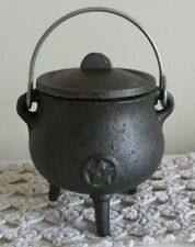 Pot Belly Cauldron with Pentagram. Pagan, Wiccan, Cleansing Rituals