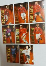 Futera GOLD Manchester United Red Hot Complete 8 Card Insert Set 1997