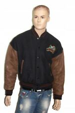 WALT DISNEY MEN'S LEATHER BASEBALL JACKET SIZE L RETRO VINTAGE UNIQUE