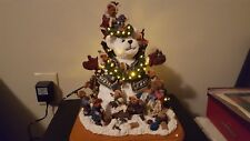 Danbury Mint Boyd Bears Snow Bears Christmas Lighted Figurine