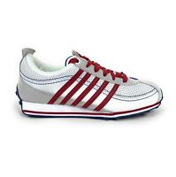K Swiss Ghent Womens Low Top Red White Trainer Shoes Size 6 Retro 91161172