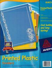 Avery Dragon Print Plastic Dividers 5 Tabs 8 12 X 11 In 81823