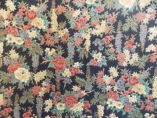 WtW Fabric Kimono 5491 Floral Flower Metallic Asian Hoffman Garden Nature Quilt