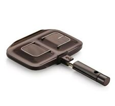 Happy Call Nonstick Titanuim Double Sided Brunch Pan Sandwich Maker Brown Korean