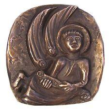 Bronze Relief Evangelist Matthäus Symbol 14 cm * 14 cm
